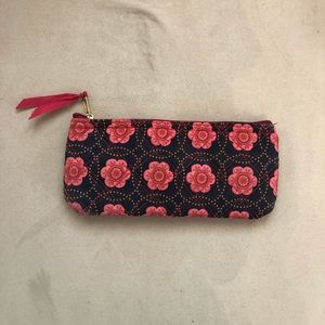 Flower Patterned Pink and Navy Bag